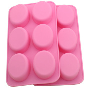Zicome Oval Silicone Mould for Soap Bar Making, Set of 2