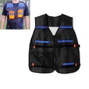 Tactical Vest Protective Adjustable Vest Series With Storage Pockets For Nerf N-Strike Elite