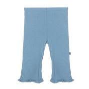 KicKee Pants Little Girls Ruffle Pant, Blue Moon, 2T