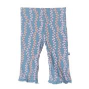 KicKee Pants Little Girls Ruffle Pant, Blue Moon Seaweed, 3T
