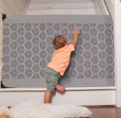 The Stair Barrier - Wall-to-Bannister Basic Baby/Pet GateGrey Geo