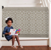 The Stair Barrier - Wall-to-Bannister Basic Baby/Pet GateBeige Geo