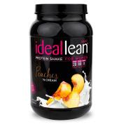 IdealLean, Protein Powder for Women, Peaches 'N Cream, 20g Whey Protein Isolate, Calcium, Folic Acid, 0g Sugar, 0g Fat, 0 Carbs, 30 Servings