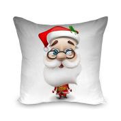Decorie Snowing Christmas Santa Claus Linen Pillow Case for Festival