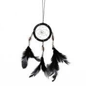MORESAVE Handmade Mini Dream Catcher Feathers Long Wall Car Hanging Key Chain Decor