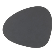 LIND DNA Table Mats, Leather, Anthracite, 37 x 0.2 x 44 cm, 2-Piece