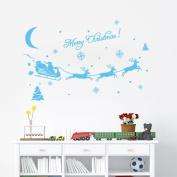 Kingko® Christmas Decorations Vinyl Wall Window Stickers Santa Claus Gift Reindeer Xmas Decor