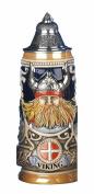 German Beer Stein Viking stein Leif the red Erikssen 0.5 litre tankard, beer mug KI 303-V 0,5L