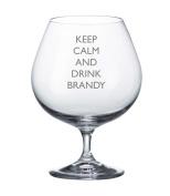 Bohemia Crystal Brandy Glass With Keep Calm and Drink Brandy Design