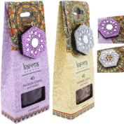 Sandalwood and Lavender Incense Cones with Burner. High Fragrance and Attractive