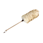 Redecker White Lambskin Wool Fur Duster With Wooden Handle, 70cm