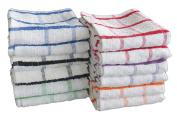 12 x Jumbo Tea Towels, Professional Catering Grade Kitchen Tea Towels Dish Cloth By Olivia Rocco®