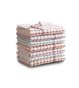 Monocheck Cotton Terry Tea Towel Kitchen Dish Drying Cloth - Pack Of 7