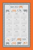Curious Cows 2017 Calendar Tea Towel