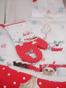 Cup Cake Christmas Apron and Oven Glove/Gauntlet Set