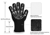 Heat Guardian Heat Resistant Gloves - Protective Gloves Withstand Heat Up To 932℉ - Use As Oven Mitts, Pot Holders, Heat Resistant Gloves for Grilling - Features 13cm Cuff for Forearm Protection
