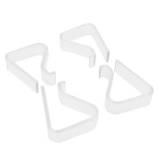 4 Pcs Home Party Clear Plastic 20mm-35mm Desk Table Cloth Clips