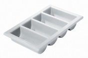 New cutlery tray/box full size 33cm x 50cm grey.