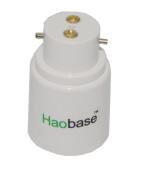 Haobase 2Pcs B22 to E27 Lamp Socket Converter Bayonet Screw