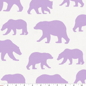 Carousel Designs Pastel Purple Bears Fabric by the Yard