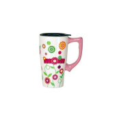 SPOONTIQUES SPOONTIQUES MOM FLOWERS TRAVEL MUG / 12012S /