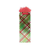 Gift Wrap Company Peppy Plaid Bottle Bag