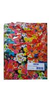 Flomo 12PC Medium Floral Print Gift Bag