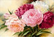 Hestio Peony Flowers 5D Diamond Painting Cross Stitch Kits