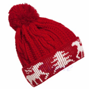 Skaw Doly Women Winter Warm Ball Cap Christmas Tree Deer Crochet Knitted Beanie Hat