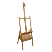 US Art Supply Studio H-Frame Wood Artist Painting Floor Easel with Storage Drawer