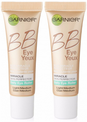Garnier Skin BB Eye Miracle Skin Perfector Eye Roller, Light/Medium, 0.27 Fluid Ounce (Pack of 2)