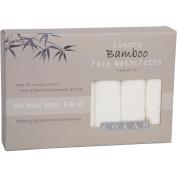 Luxury Bamboo Facial Washcloths, Set of 6, White