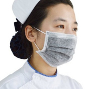 50 PCs Non-woven 4 Layer Disposable Black Surgical Dust Filter Mouth Cover Beauty Nail Salon Face Mask