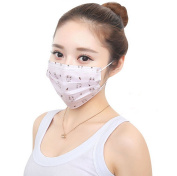 Ewandastore 3 Layer Cartoon Face Mask,30 Pcs Colourful Print Disposable Surgical Dust Filter Earloop Mouth Cover Beauty Nail Salon Face Mask