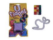 Set of 3 Assorted Fidget Toys with Metallic Tangle Jr.