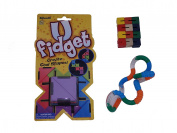 Set of 3 Assorted Fidget Toys with Textured Tangle Jr.