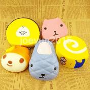5PCS Cute Jumbo Squishy Bread Cartoon Cakes Toys
