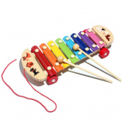 Baby Kid Musical Toys, Misaky Xylophone Wisdom Development Wooden Instrument