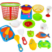 35pcs Cooking Pretend Toy Set, Misaky Plastic Kids Children Kitchen Utensils Food Educational Toyation toys