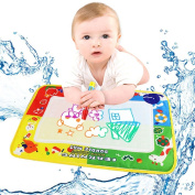 4Color Drawing Mat, Misaky Water Board & Magic Pen Doodle Kids Toy Gift 46X30cm