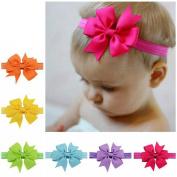 Baby Girl None Slip Bow Headband Hair Clip Mixed 20 Colour