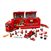 LEGO Red Speed Champions F14 & Scuderia Ferrari Truck Play Set with 6 minifigures Collectible Toy