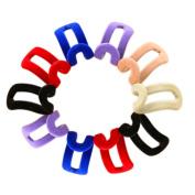 Fengzhciai 10 Pcs Mini Home Flocking Clothes Hanger Easy Hook Closet Organiser