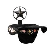 IRON COWBOY HAT HOLDER WITH STAR SYMBOL-23cm HIGH X 25cm DEEP.