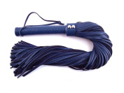 Rouge Garments Blue Leather Handle Leather Floggers
