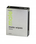 MALE Cobeco Wipes Delay 6 pcs/ 2,5ml helps to delay and extend your erection