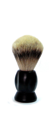 100 Percent silver-tipped, Plastic Handle Black Badger Hair Shaving Brush 1 piece gold