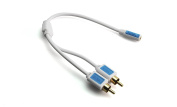 Box BLJF2RCAMDI02 Jack Stereo Audio Cable Adapter Female to RCA Plug, Length 0.2 m White