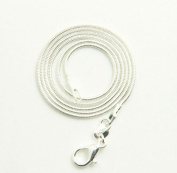 "GBSTORE 6 Pcs 20"" 925 Silver Plated 1.0mm DIY Snake Chain Charms Link Necklace With Lobster Clasps for Jewellery Making"