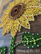 String Art Kit - Sunflower String Art, Arts and Crafts Kit, Flower Crafts, Crafts Kit, DIY Kit, Sunflower Decor, Sunflower Art, Home Decor, Wall Decor, all supplies included